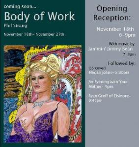 Opening Reception For Body Of Work By Phil Strang Will Be Nov 18th From 6-9PM At Indi Go Gallery  9 E University Ave  Champaign, IL